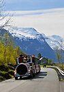 Olden tourist train, Olden, Norway by David Carton