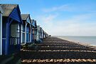 Beach Huts at Herne Bay by Nigel Bangert
