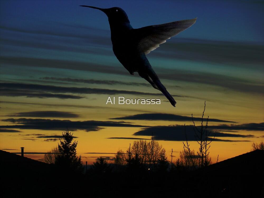 Evening Hummingbird by Al Bourassa