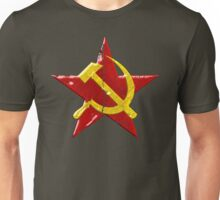 Large distressed Soviet symbol Unisex T-Shirt