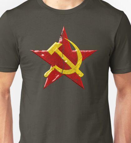 Large distressed Soviet symbol Unisex T-Shirt