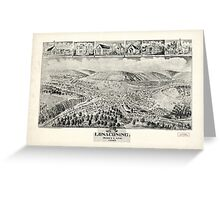 Panoramic Maps Lonaconing Maryland Greeting Card