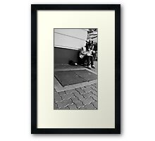 The Big Issue Seller - Albert St Framed Print