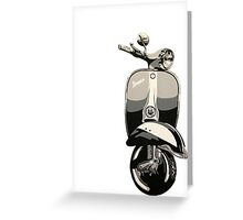Vespa sprint painting. Greeting Card