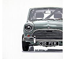 Classic Mini Cooper front view. Photographic Print