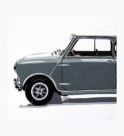 Classic Mini Cooper side view. Photographic Print