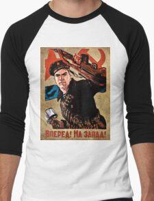 World War II Propaganda Poster – Soviet  Men's Baseball ¾ T-Shirt