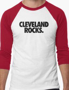CLEVELAND ROCKS. Men's Baseball ¾ T-Shirt