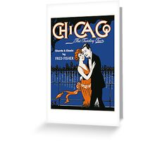 1920s style dancing couple, Chicago music Greeting Card