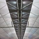 Roof Lines Hong Kong Airport by Ian Ker