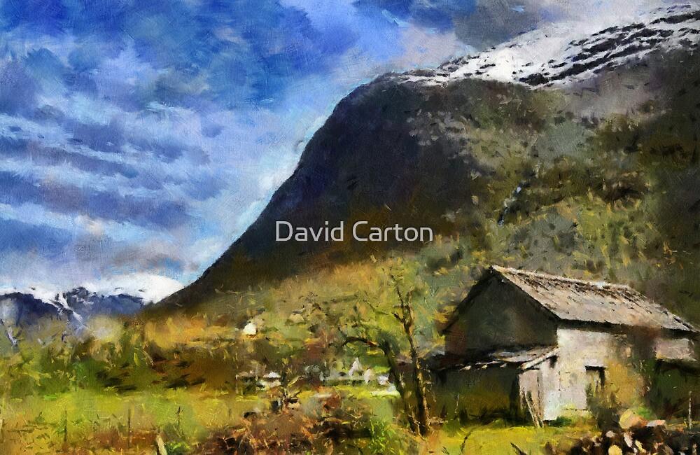 Rural landscape, Olden, Norway by David Carton