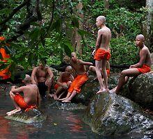 Monks swimming by Martinovi