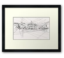 Cnr Swan & Church Sts Richmond, Victoria Framed Print