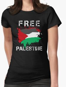 Free Palestine Save Palestina Womens Fitted T-Shirt