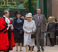 The Queen in Bromley, Kent by Keith Larby
