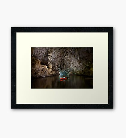 Cave kayaking, Thailand Framed Print