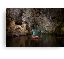 Cave kayaking, Thailand Canvas Print