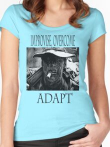 Improvise,overcome,Adapt Women's Fitted Scoop T-Shirt
