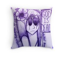 God is Dead Poster Throw Pillow