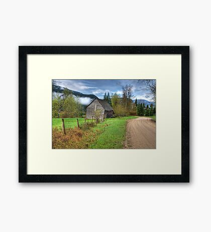Barn along the Country Road Framed Print