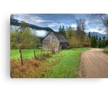 Barn along the Country Road Canvas Print