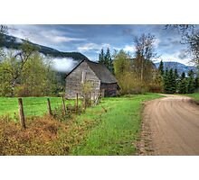 Barn along the Country Road Photographic Print