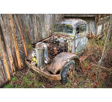 Rustic Truck Photographic Print