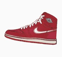 AIR JORDAN 1: RED GS RETRO FITTED by SOL  SKETCHES™