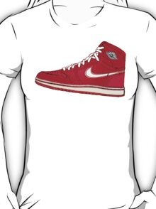 AIR JORDAN 1: RED GS RETRO FITTED T-Shirt