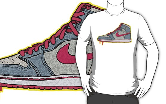 AIR JORDAN 1: GS RETRO FITTED GREY | RED LACES by S DOT SLAUGHTER