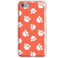 Love Pets Paw Print Hearts in Tomato iPhone Case/Skin