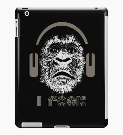 "Gorilla ""I Rock"" iPad Case/Skin"