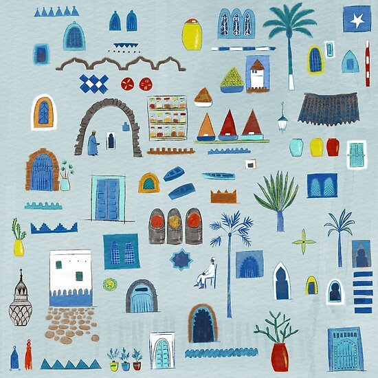 Morocco Sketch by Nic Squirrell