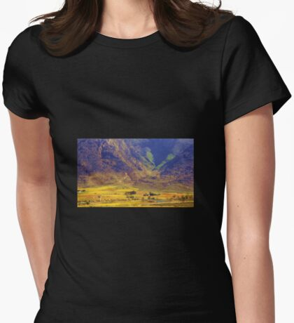 Down in the valley Womens Fitted T-Shirt