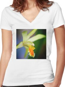 La mia principessa orchidea Women's Fitted V-Neck T-Shirt
