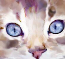 Tiddles - Ginger Tabby Kitten Sticker