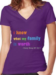 rainbow family Women's Fitted V-Neck T-Shirt