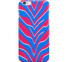 Neon Pink and Blue Zebra Stripes iPhone Case/Skin