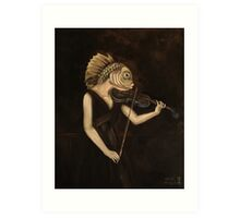 Fish With Violin (Tarbell) Art Print