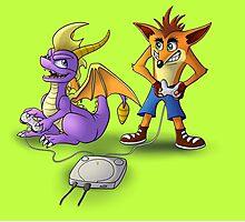 Spyro and Crash - PS1 classics Photographic Print