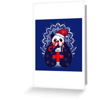 Xmas Panda Gift Greeting Card