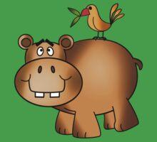Hippo and Birdie One Piece - Short Sleeve