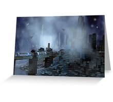 Futuristic City of Tomorrow Greeting Card