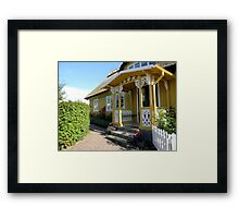 Mustard and White Porch Framed Print