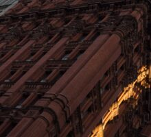 A Slice of Sunshine - Manhattan's Potter Building at Sunrise Sticker
