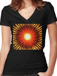 Ruby Rays Women's Fitted V-Neck T-Shirt