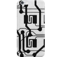 Circuit Board Close Up in Black and White iPhone Case/Skin