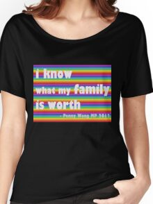 Penny Wong rainbow sticker Women's Relaxed Fit T-Shirt