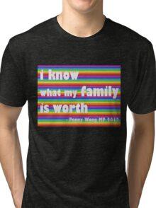 Penny Wong rainbow sticker Tri-blend T-Shirt