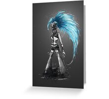 Rainbow Punk: Cybernetic Blue Greeting Card